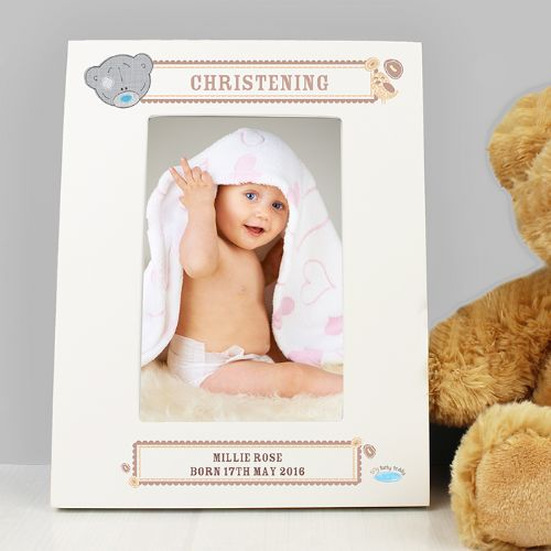 Personalised Tiny Tatty Teddy 6 x 4 White Frame